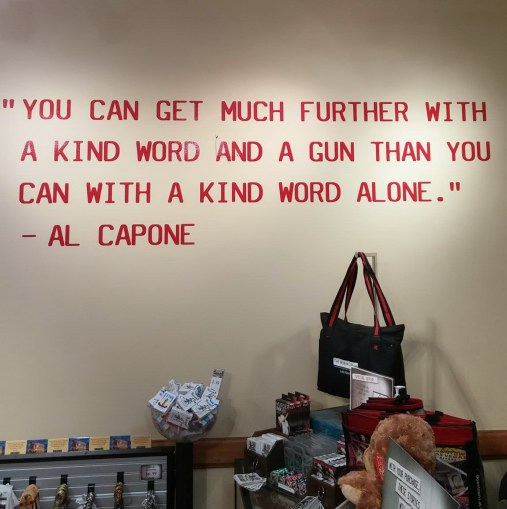 Erroneous Quote Attributed To Al Capone In The Gift Shop At Las Vegas Mob Museum